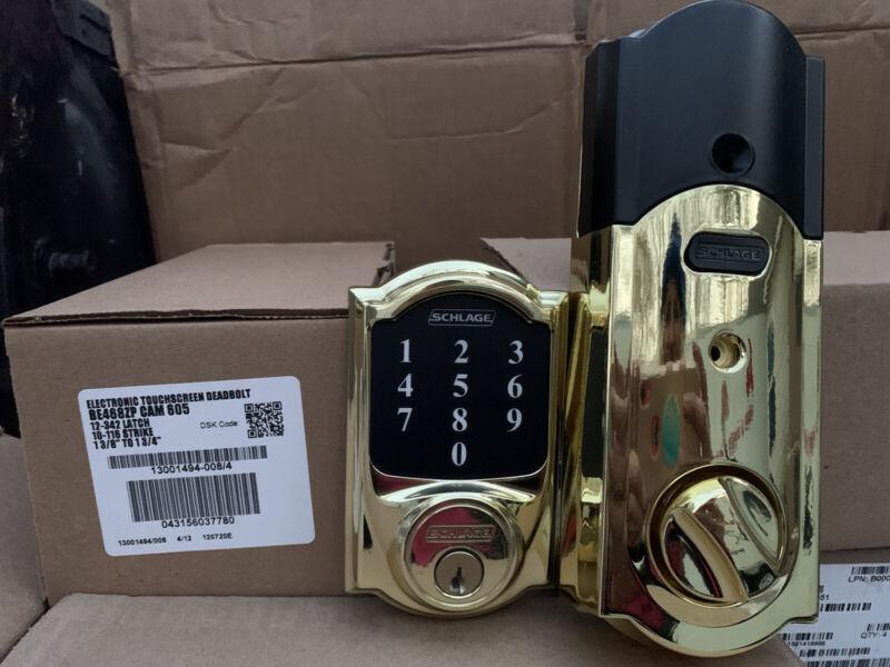 Schlage BE468ZP CAM 605 Connect Z-Wave Plus Smart Deadbolt with Camelot Trim