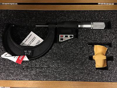 Ls Starrett 733xflz-3 2-3 Od Electric Micrometer 64242
