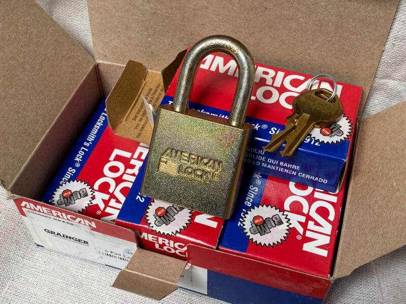 "(6) AMERICAN LOCK A5200GLNKAS6 Alike-Government Padlock Open Shackle 1-1/8"""