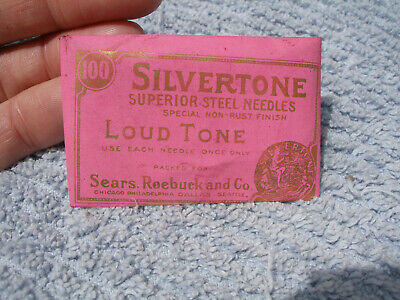 Original Pack of SILVERTONE 100 Steel Victrola Gramophone Phonograph Needles