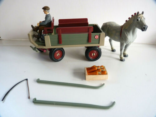 Very Rare, Schleich Wagon lot includes matching horse, driver and accessories