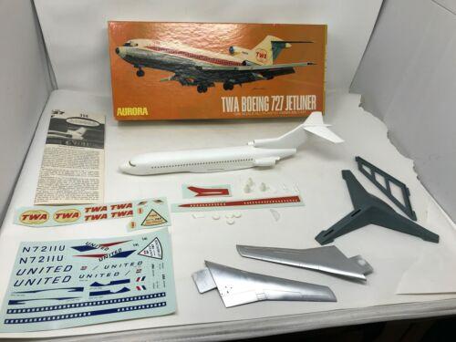 Aurora 1964 TWA Boeing 727 Jetliner #354-250 1:96  Model Kit (not complete)