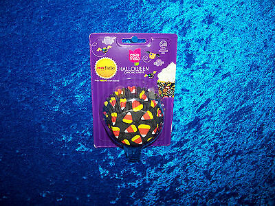 CAKE MATE HALLOWEEN NO FADE CANDY CORN BAKING CUPS CUPCAKE LINERS 24 COUNT - No 1 Halloween Candy