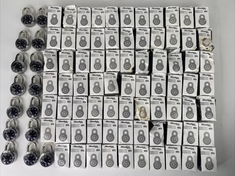Lot Of 91 Master Lock Dial Combination Padlocks 1525 All S96 Keyed, No Key