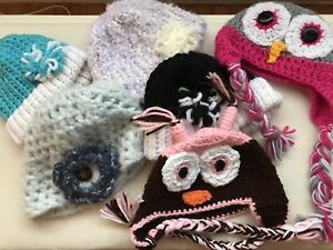 Variety of hand knitted hats. - never worn.