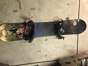 Sims 152cm snowboard, boots, and bindings package