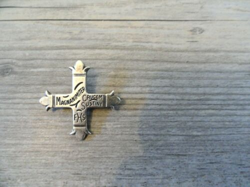 GORGEOUS RETIRED JAMES AVERY MAGNANIMITER FHS CRUCEM SUSTINE BROOCH PIN