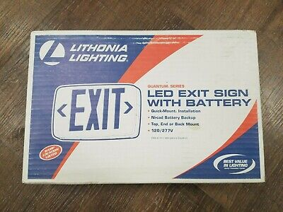 Lithonia Lighting Led Exit Sign With Battery