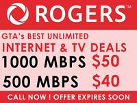 HIGH SPEED ROGERS UNLIMITED INTERNET - NO CONTRACT