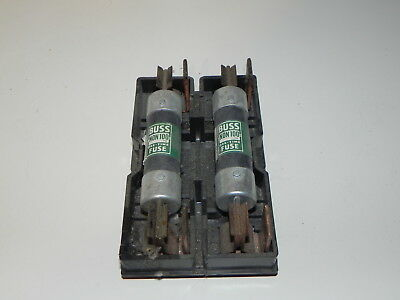 Vintage General Corp 100 Amp Fuse Pullout Holder Cp100 With 2 Buss Fuses