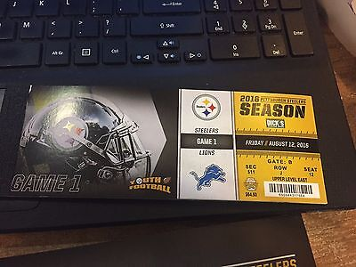 2016 PITTSBURGH STEELERS FULL FOOTBALL SEASON TICKET BOOK STUB ALL GAMES NO COVR