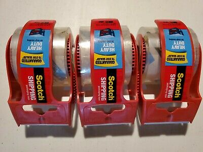 3 New Scotch 2 W X 800 L Packaging Tape Clear Super Strength Packing 142