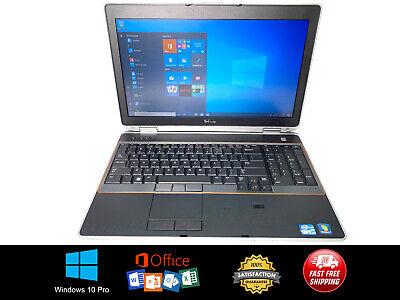 Dell Latitude E6520 15.6in Laptop (500GB, Intel Core i5, 2.5GHz, 4GB) Win10 Pro