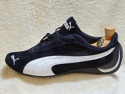 Puma Drift Cat II mens trainers NEW Leather-Suede Black/White UK 9 EUR 43