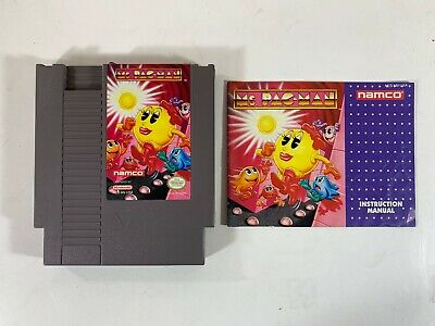 Namco Ms. Pac-Man w/ Manual (Nintendo NES) *Tested & Working*