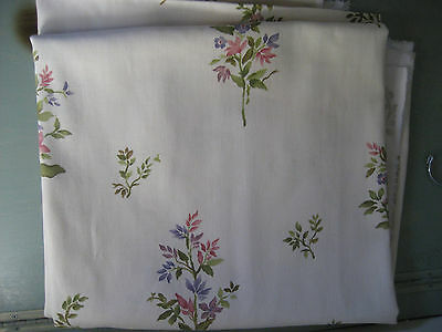 Robert Allen   Home Dupont Teflon Herringbone Twill Floral Fabric 3 Yards  108