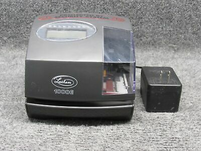 Lathem 1000e Digital Time Punch Clock W Ac Adapter Tested No Key