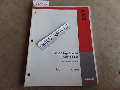 Case 8435 Silage Special Round Baler Operators Manual 9-79920