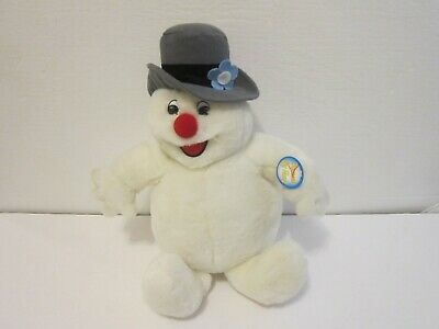 "Vintage Gemmy Singing Frosty The Snowman Animated Plush Stuffed 14"" with Tag"