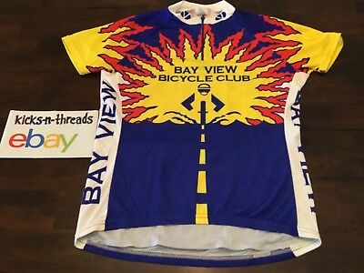 VOLER CYCLING JERSEY ( WOMENS LARGE ) BAY VIEW BICYCLING CLUB WI. PREOWNED 7145b2268