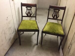 Two formal vintage chairs