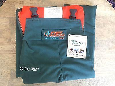 NEW OEL ARC WELDING FLASH PROTECTIVE BIB OVERALL, 25 CAL/CM2 Men's Large AFW085 - Oel Arc Flash