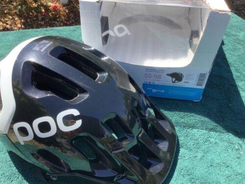POC Tectal Spin MTB helmet, NIB (tags were removed); size M/L, black/white.
