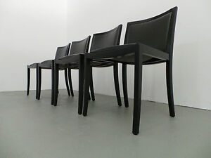 thonet 8 x stuhl modell 737 peter maly holz schwarz leder schwarz. Black Bedroom Furniture Sets. Home Design Ideas