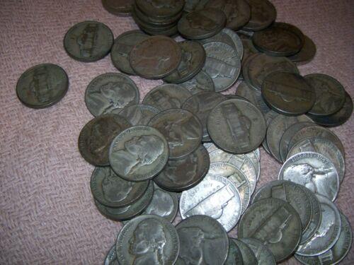 1942-1945 Jefferson Wartime War Nickel 35% Silver