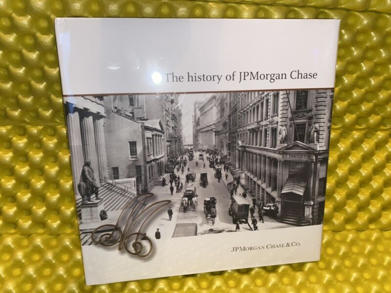 The History of JP Morgan Chase & Co. Hardcover Illustrated Book Brand New Sealed