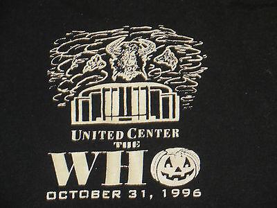 The Who Rare Vintage 1996 Concert Tour Shirt Chicago Halloween  GLOWS in Dark!