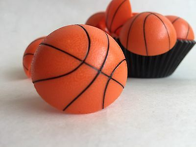 12 Cake Cupcake Ring - Basketball Ring Cupcake Toppers  basketball cake toppers  #12