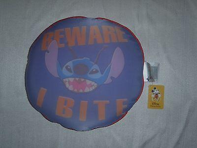 "*NEW!* 2005 Walt Disney World STITCH ""BEWARE I BITE"" Micro-Bead Pillow 12"" x 12"""