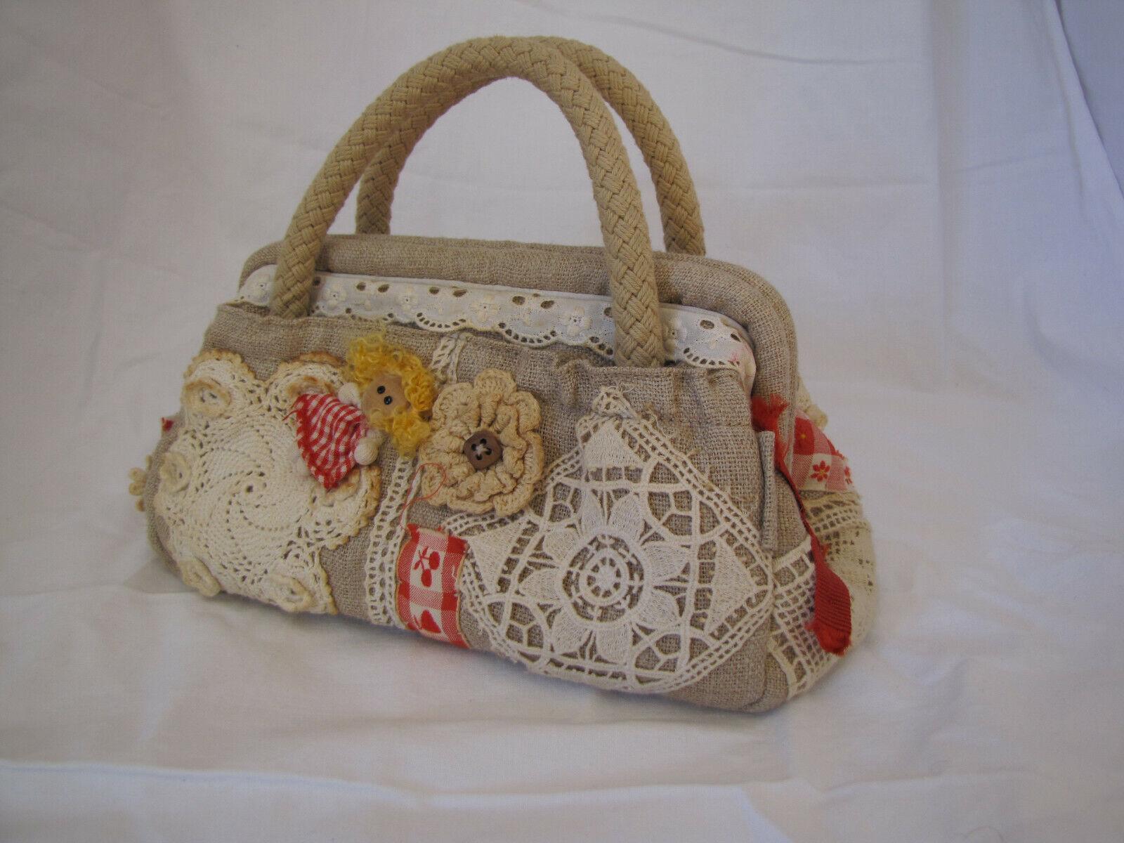 Handtasche,Sissi Rossi, verspielter Landhausstil, Sammlerstück, Vintage-Optik