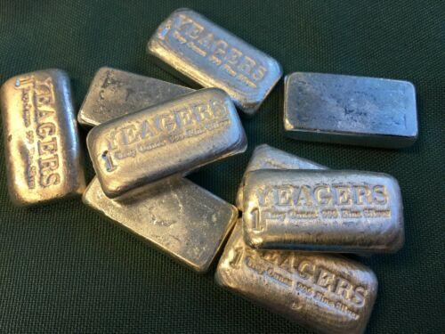 1 Oz Hand Poured 999 Silver Bullion Bar By Yps (bare Bones)