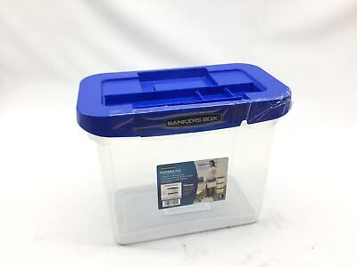 Bankers Box Heavy Duty Portable Plastic File Box With Hanging Rails Letter 1 P