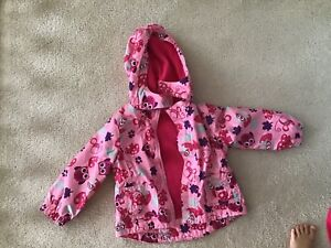 Toddler girl pink fleece lined jacket.  Size 18-24 months.