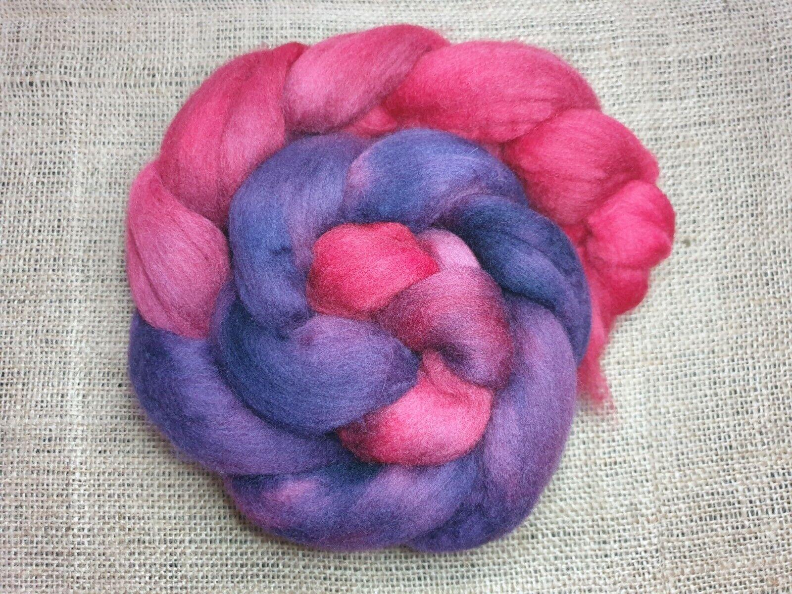 как выглядит Hand dyed Merino roving, wool top, 100 g, BIZANTYNE фото