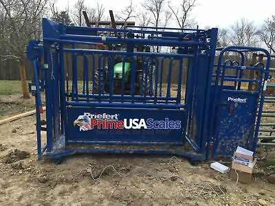 Livestock Scale Weigh Bars Chute 6800 Lb Cattle Scale Portable Scale 40 X 4