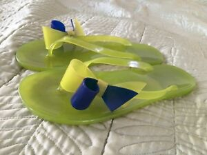 9f302d8c1f5 Green Rubber Flip Flops with Bow