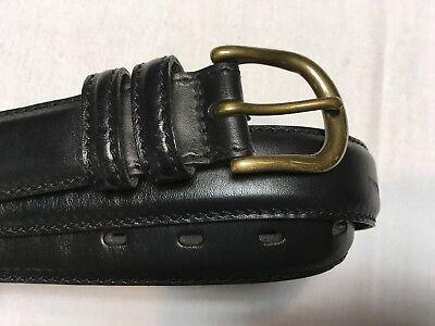STRUCTURE USA MENS BLACK ITALIAN LEATHER BELT SZ 36 BEST (Best Mens Black Leather Belt)