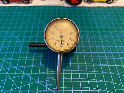 Vintage Starrett No. 196-.001 Jeweled Dial Indicator. Free Shipping.