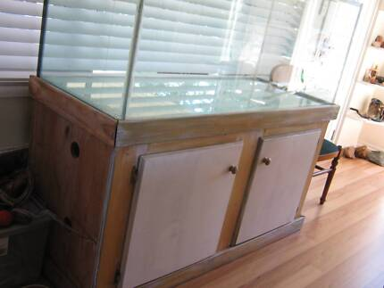 Glass Reptile Enclosure on wooden stand