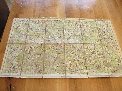 alte Landkarte Mittelbachs Große deutsche Karte Nr.35 Luckenwalde Guben um 1925