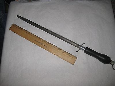 """Vintage Sharpening Steel - 12"""" ROWOCO 511 Steel - 18"""" Total - FISCHER - FRANCE"""