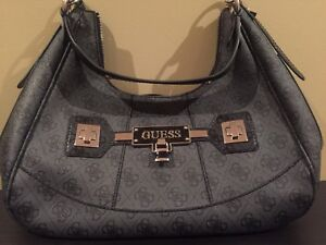 Authentic Black and Grey GUESS purse