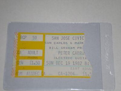 "Peter Gabriel Concert Ticket Stub-1982-Security Tour-""Shock the Monkey""-CA"