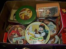 LARGE BOX OF OLD BISCUIT, TEA, SWEETS TINS 20+ tins 1950s-90s Colonel Light Gardens Mitcham Area Preview