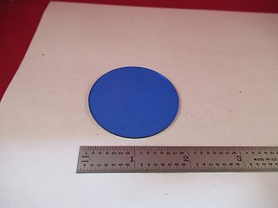 Optical Large Blue Glass Filter Zeiss Optics As Pictured W1-a-17