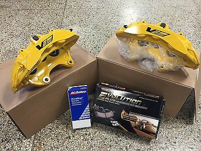 2009-13 Cadillac CTS-V Brembo Yellow 6 Piston Front Calipers w/pads + pins ZL1